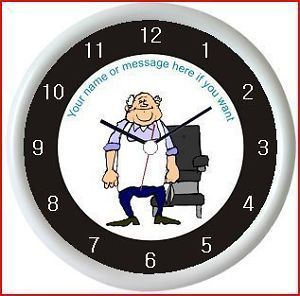 Barber 1 Personalised Wall Clock Barbers Chair Shop Hair Stylist Present Gift