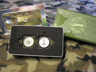 Jeep Grand Cherokee Limited Edition Heavy Metal Stop Watch Compass New in Box