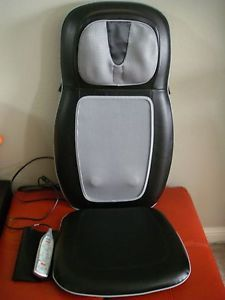 Homedics SBM 500H Shiatsu Back Shoulder Massage Chair Cushion Massager w Heat