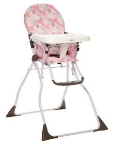 Cosco Slim Fold Baby Child Toddler Folding High Chair Pink Casey