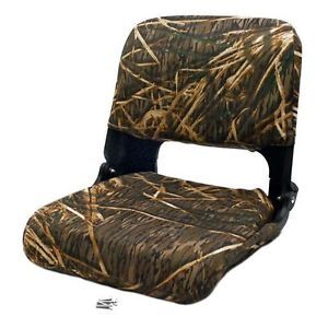 Tracker Marine 123762 Camouflage Canvas Boat Folding Fishing Seat Chair Single