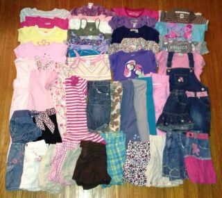 Huge Lot of 45 Baby Toddler Girls Size 4T 5T Summer Clothes Gymboree Carter'S
