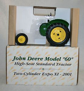 Ertl Two Cylinder Expo XI John Deere Model 60 High Seat Standard Tractor 1 16