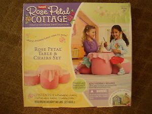 New Playskool Children s Pretend Play Rose Petal Cottage Table Chairs Set