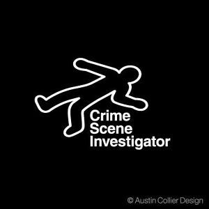 Crime Scene Investigator Vinyl Decal Car Sticker CSI