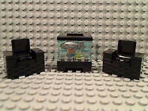 Lego Fish Tank Chairs House Decor Aquarium Room Furniture Town Friends City