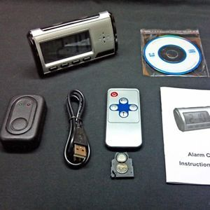 Hidden Crime Video Camera Alarm Digital Clock Baby DVR Motion Detection Sensor
