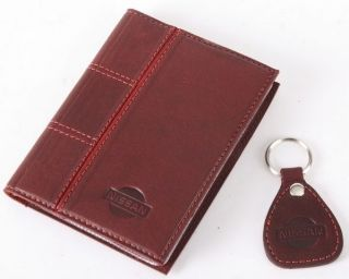New Leather Auto Documents Holder Cover Drivers LICENCE Insurance Nissan
