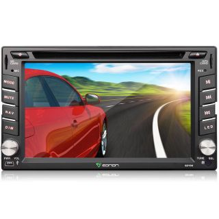 "6 2"" Double DIN 2Din Car DVD Player GPS Nav Bluetooth Touch Stereo Dual Zone Map"