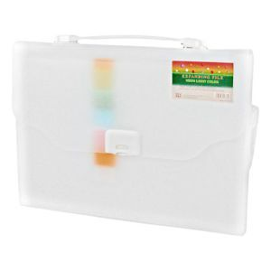 White 13 Slots Rectangle Paper Document File Holder Organizer Bag