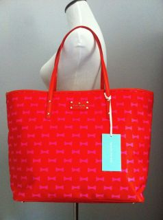 "NWT$328 Kate Spade Bow Shoppe ""Harmony"" Baby Travel Bag"