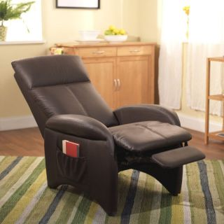 Brown Leather Recliner Chair Reclining Modern Contemporary Lazy Boy Accent Club