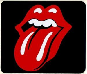 Rolling Stones Tongue Logo Mouse Pad Mousepad Desk Pad Polyester Top Rubber Bot