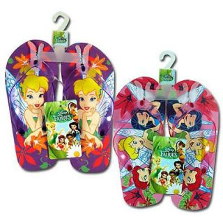 Disney Fairies Tinkerbell Kids Girls Thong Flip Flops Beach Sandals 1 Pair