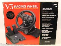 Interact V3 Racing Wheel Nintendo 64 PlayStation Analog Steering Wheel Pedal