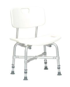 New 550 lbs Bariatric Bath Chair Heavy Duty with Back