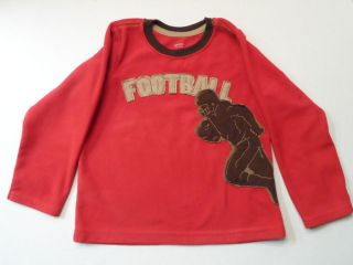Boys Pullover Football Player Red Sweatshirt Top Shirt Carters Toddler Size 4T