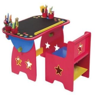 New Kids Play Tables Chair Artist Studio Art Desk Wood Drawing Table Paint
