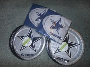 Dallas Cowboys NFL Football Hallmark Party Supplies Plates Napkins New