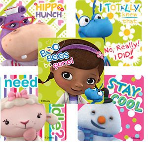 15 Doc McStuffins Stickers Girls Party Treat Loot Bag Favors Supply Disney