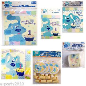 Blue's Clues Cupcake 1st Birthday Party Supplies Pick 1 or Many to Create Set