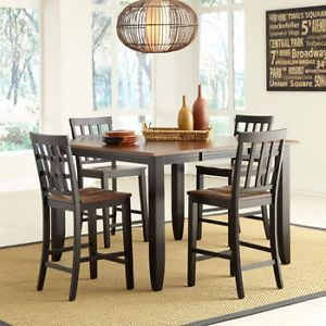 Somerset 5 Piece Counter Height Dining Set Counter Height Table 4 Side Chairs