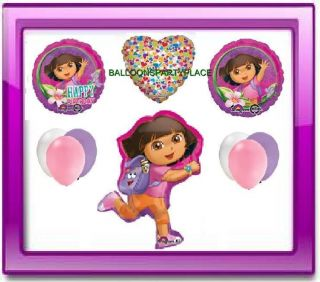 10 Balloons Dora The Explorer Happy Birthday Party Heart Garden Supplies Flower