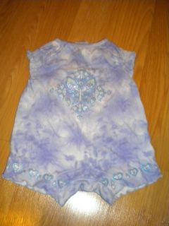 Baby Connection Infant Girl Purple Butterfly Romper Size Newborn 0 3 Months