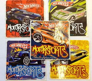 15 Hot Wheels Motor Sports Cars Sticker Party Favor Teacher Supply Racers