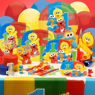 New Sesame Street Elmo 1st Birthday Party Set Pick A Set Tablecover Plates Cups