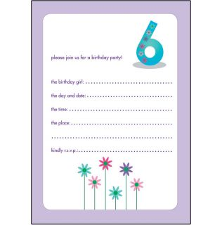 10 Childrens Birthday Party Invitations 6 Years Old Girl Nice Bpif 32 Flower