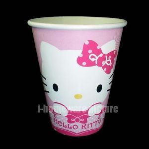 Hello Kitty Sanrio Birthday Party Supply 6X Paper Cups H973