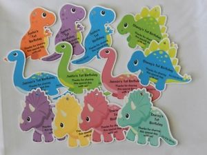 Unique Personalized Dinosaur Birthday Favor Tag Baby Shower Party Favor Gift Tag