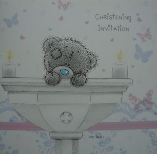 Me to You 30 Christening Invite Invitation Tatty Teddy