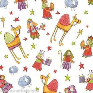 Caspari 2 8' Rolls Nativity Christmas Gift Wrap Holiday Wrapping Paper
