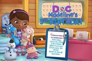 Doc McStuffins Custom Birthday Party Invitation with or Without Photo