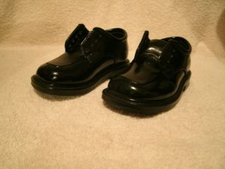 Deer Stag Toddler Sz 5M Black Patten Leather Dress Shoe
