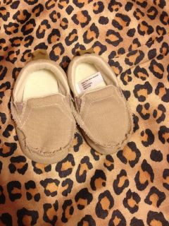 Soft Sole Baby Boy's Loafers Size 2 Khaki New Without Box