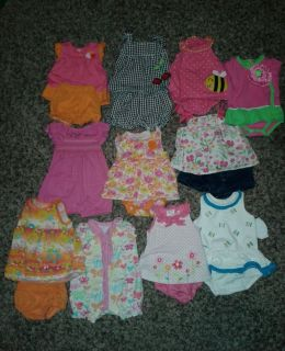 15 Pieces Baby Girl Clothes Lot 0 3 3 6 Months Summer