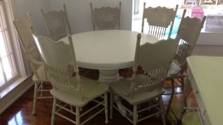 "Authentic Rachel Ashwell 48"" Round Dining Table Chairs Sep"