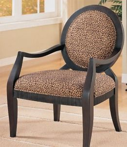 Leopard Print Accent Chair Very Comfortable Perfect for Home or Office