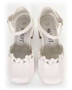 Girls Dress Shoes Wedding Pageant Toddlers Kids White