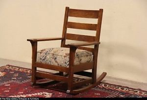 L JG Stickley Signed 1905 Antique Arts Crafts Rocking Chair