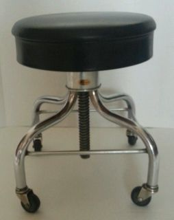 Vintage Pedigo Adjustable Swivel Stool Doctor Tattoo Office Excellent Chair USA