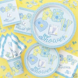 Baby Shower Blue Quilt Banner Baby Cascade Centerpiece Party Supplies New