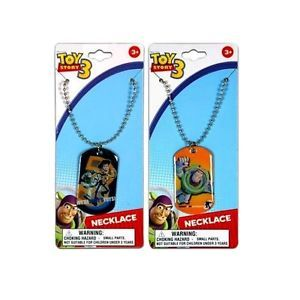 12 Disney Pixar Toy Story Buzz Woody Dog Tag Necklaces Birthday Party Favors