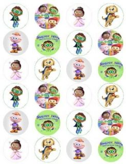 Super Why 1AA Edible Cup Cake Toppers Set of 24 $3SHIP