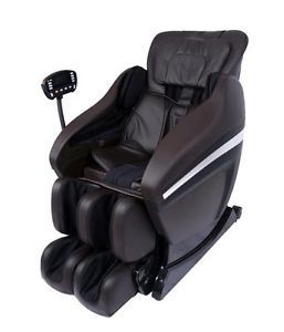 Full Body Zero Gravity Shiatsu Brown Massage Chair Recliner Soft 3D  Arm 02