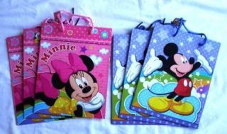 24 Pcs Mickey Minnie Mouse Goody Gift Loot Bag Disney Licensed Party Supply