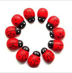 Pack of 50 Wooden Magnet 24mm Ladybug Wood Toy Kid Party Favours Supply MAG007